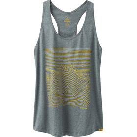 Prana Graphic Tank Women Weathered Blue Heather